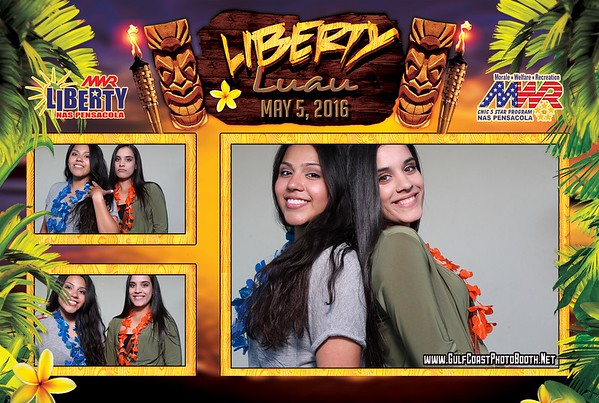 MWR Liberty Luau Photo Booth Prints