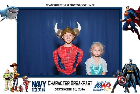 MWR Pensacola Character Breakfast 9/10/2016