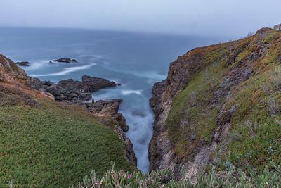 Endless waves carve the rocks