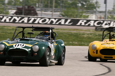 Lyle Riggen leads Brian Sanders through the infield road course during NASA FFR action at GIR, April 2010