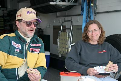 Veteran NASA FFR campaigners Lyle & Julie Riggens enjoying a quiet lunch at GIR, April 2010