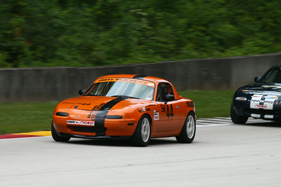 Spec Miata #44 in Action @ Road America, August 2014