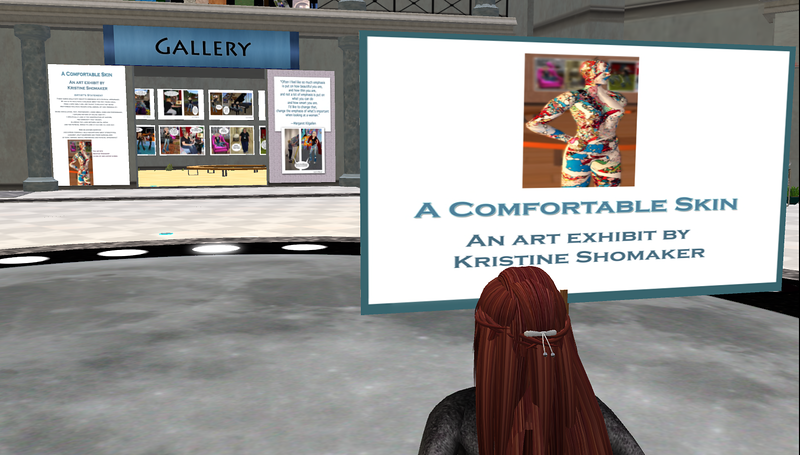"""The ANISBLE's Art Gallery showing Kirstine Schomaker's """"A Comfortable Skin"""""""