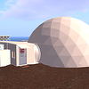 Outside the virtual habitat in the ANSIBLE Virtual Ecosystem for NASA and the HI SEAS 4 Mission 2016