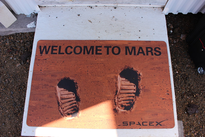 Actual door mat brought by one of the Hi SEAS Mission 4 crew 2016