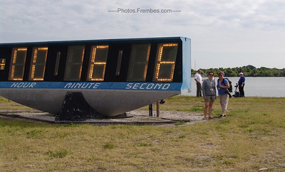 Me and Jennifer Huber (@jenniferhuber) at the countdown clock now counting *up* after Endeavour is launched. -- May 16, 2011