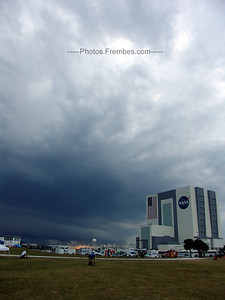 #NASAtweetup day 1 - Storm clouds converge on the VAB. April 28, 2011