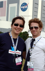 """#NASAtweetup day 2 - Me and Seth Green, who is so super nice in person. He said, """"Twitter is all about community."""" Hell yeah.  -- April 29, 2011"""