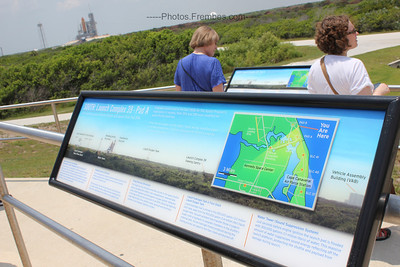LC-39 Viewing Gantry. Shuttle Atlantis in the background.  - June 2011