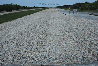 Crawler tracks on the way out to the launch pad. The last space shuttle tracks EVER. - - June 2011