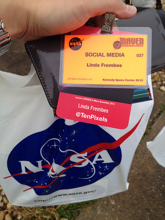 Finally found the badging office. The MAVEN #NASAsocial just got real.