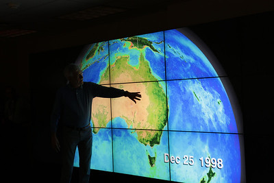 More data visualization on NASA's Hyperwall: The changing landscape.