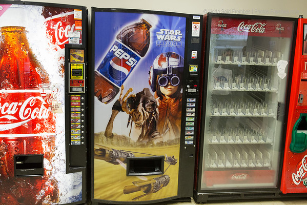 Totally unrelated to any mission, but this Star Wars vending machine at NASA Goddard Building 29 is really cool.