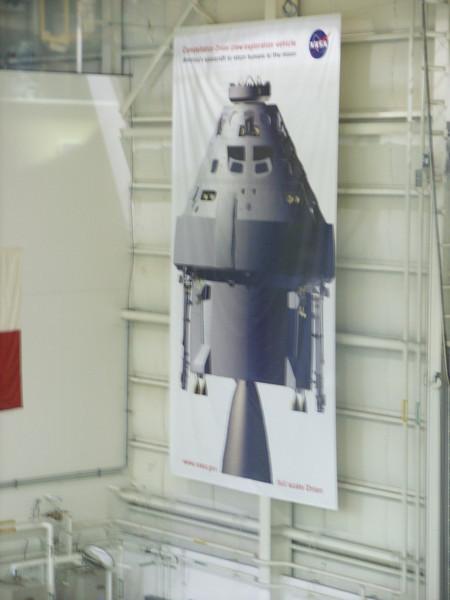 Banner of the Constellation Program Orion spacecraft