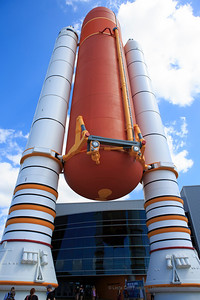 Outside the Atlantis exhibit at Kennedy Space Center.