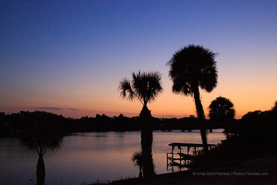 Sunset from the back deck of Eau Gallie River Crab House in Melbourne. The end of another fabulous NASA Social.