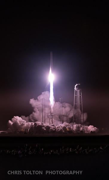 Antares/Cygnus Departs Wallops
