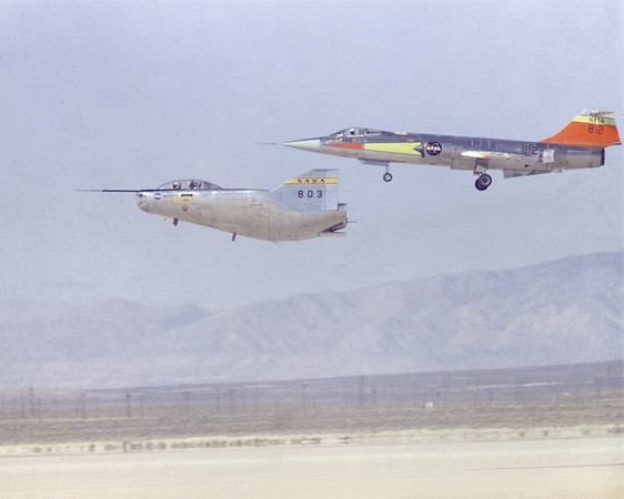 M2-F2 Landing with F-104 Chase Plane