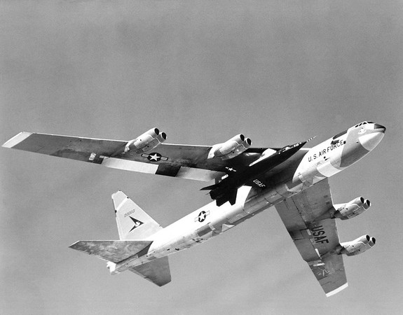 X-15 Mated to B-52 Captive Flight