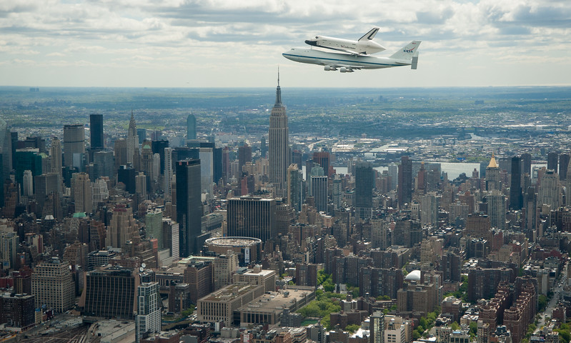 Shuttle Enterprise Flight to New York
