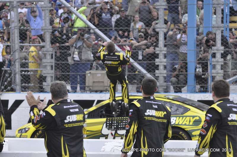 CARL EDWARDS START OF THE BACK FLIP !