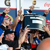 Trevor Bayne Lifts Trophy in Victory Lane