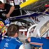 David Reutimann Garage Repairs to the Aaron's Toyota Daytona