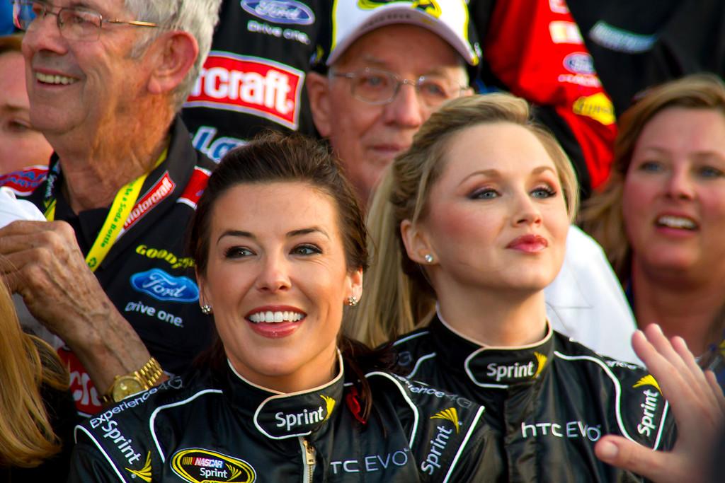 2011 Daytona 500 Sprint Cup Girls Victory Lane Celebration after Trevor Bayne's win.
