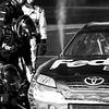 Denny Hamlin's FedEx No. 11 Toyota Blowing off Steam During the 2011 Daytona 500