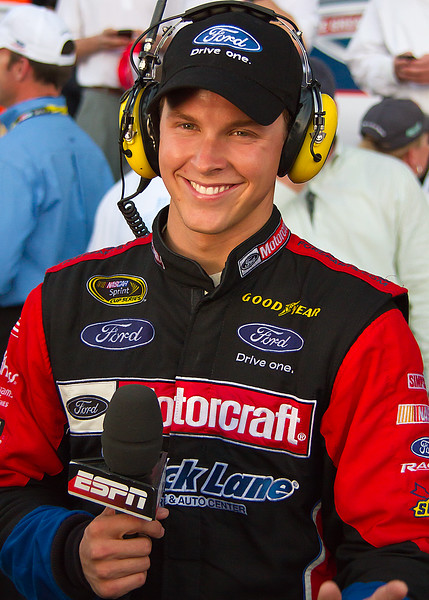 Happy Trevor Bayne after Daytona 500 Win