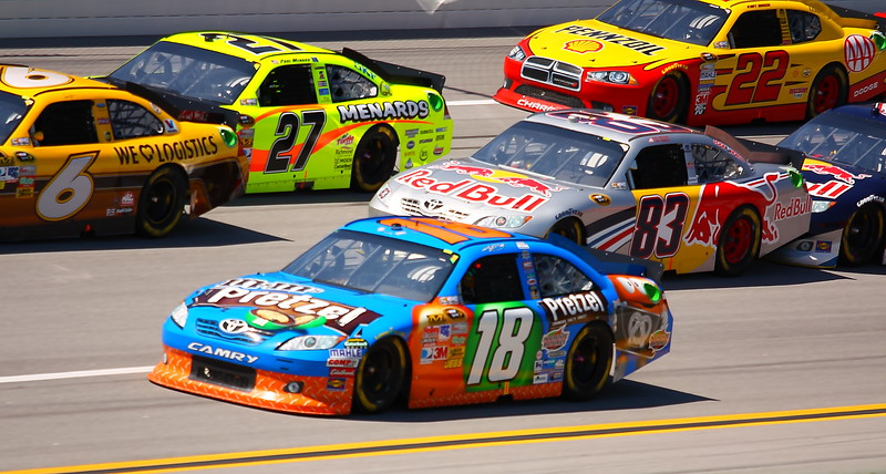 3 wide on the front stretch at Talladega