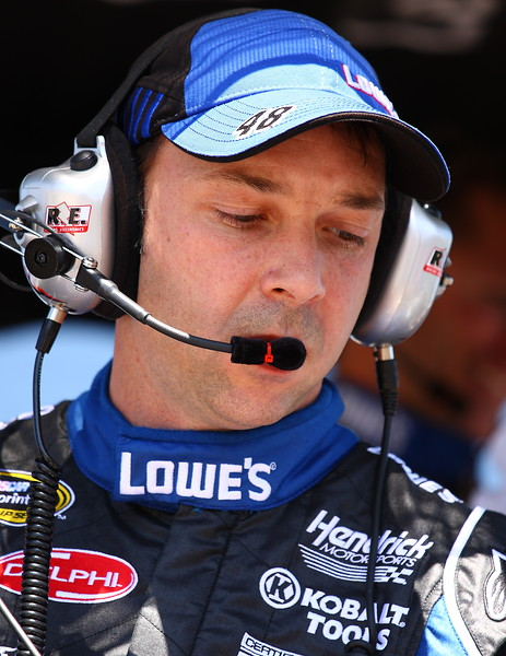 Chad Knaus in the pit Talladega