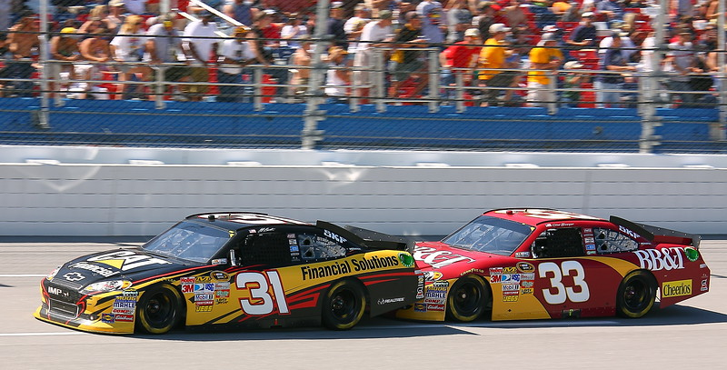 Bowyer pushing Burton at 200 mph Talladega