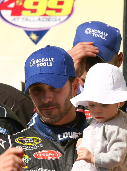 Only Genevieve Marie was immune from the hat dance in Victory Lane Talladega Aaron's 499
