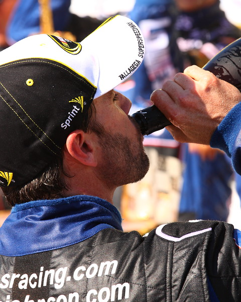 Jimmie Johnson the sweet taste of Victory Aaron's 499 Talladega
