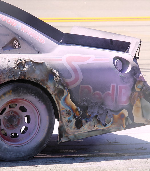 Kasey Kahne's Red Bull No 4 scourched at Talladega