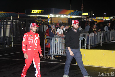 Kyle Larson heads out to the drivers introduction.