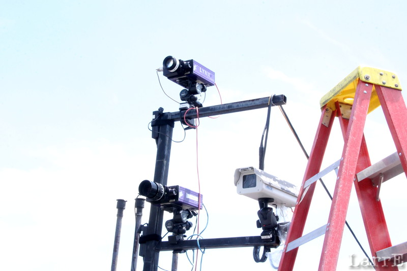 Cameras aimed at the finish line