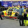 the Paul Menard car goes through NASCAR tech