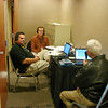 Steve Post, Buddy Baker and Junior Johnson in a closet