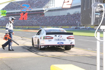 Was the blower to cool Keselowski down?