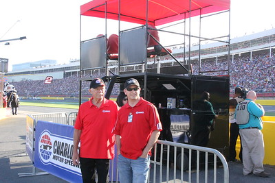 the Zech boys run the Bank of America VIP stand.
