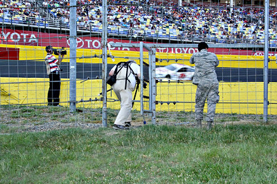 Track photographers have a secret hidden gate to the turn 4 area.