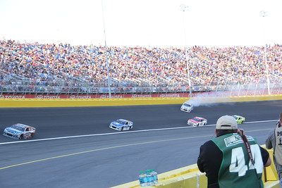 Jimmy Johnson spins (the first one) in turn 4.