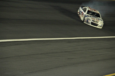 Jimmy Johnson spins (for the second time) in turn 4