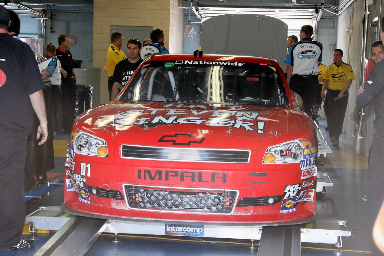 NASCAR inspection