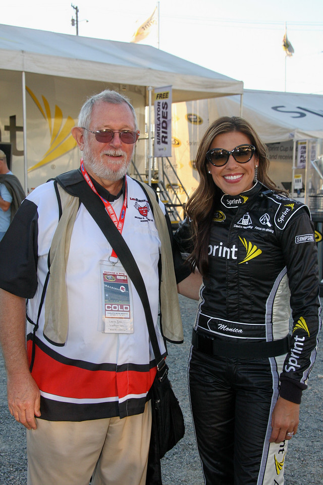 me and Monica...Miss Sprint Cup