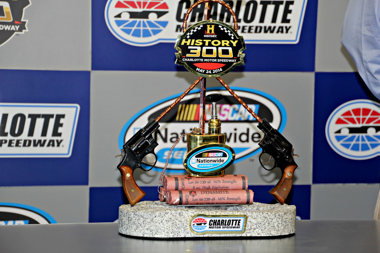 the NASCAR Nationwide... History 300 trophy