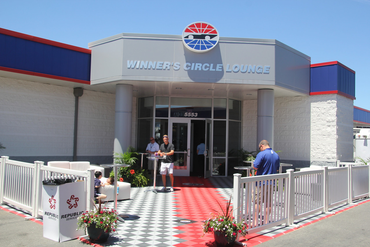 entrance to the Winners Circle Lounge in the infield
