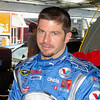 PATRICK CARPENTIER (car pon' tee yae) It's French. He's from Canada. Patrick told me it's much easier for a NASCAR driver to go to open wheel racing than the other way around. Lots of little skills and tricks here. In Indy Car it either sticks or doesn't